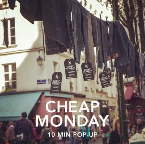 CHEAP MONDAY POP UP STORE